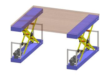 Synchronized Lifting Table For Fabric Folding Machine